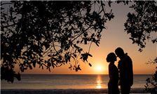 Margaritaville Beach Resort Playa Flamingo - Couple Stealing A Kiss at Sunset
