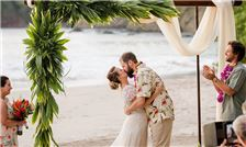 Margaritaville Beach Resort Playa Flamingo - First Kiss After Wedding Ceremony