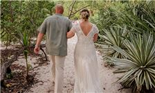 Margaritaville Beach Resort Playa Flamingo - Father Walks Bride to the Wedding Ceremony