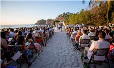 Large Beach Wedding