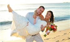 Flamingo Beach Resort - Wedding Beach Couple