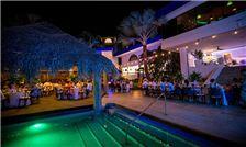 Margaritaville Beach Resort Playa Flamingo - Wedding Party Enjoying Dinner Reception