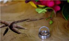 Margaritaville Beach Resort Playa Flamingo - Wedding Rings Beside Flower Bouquet