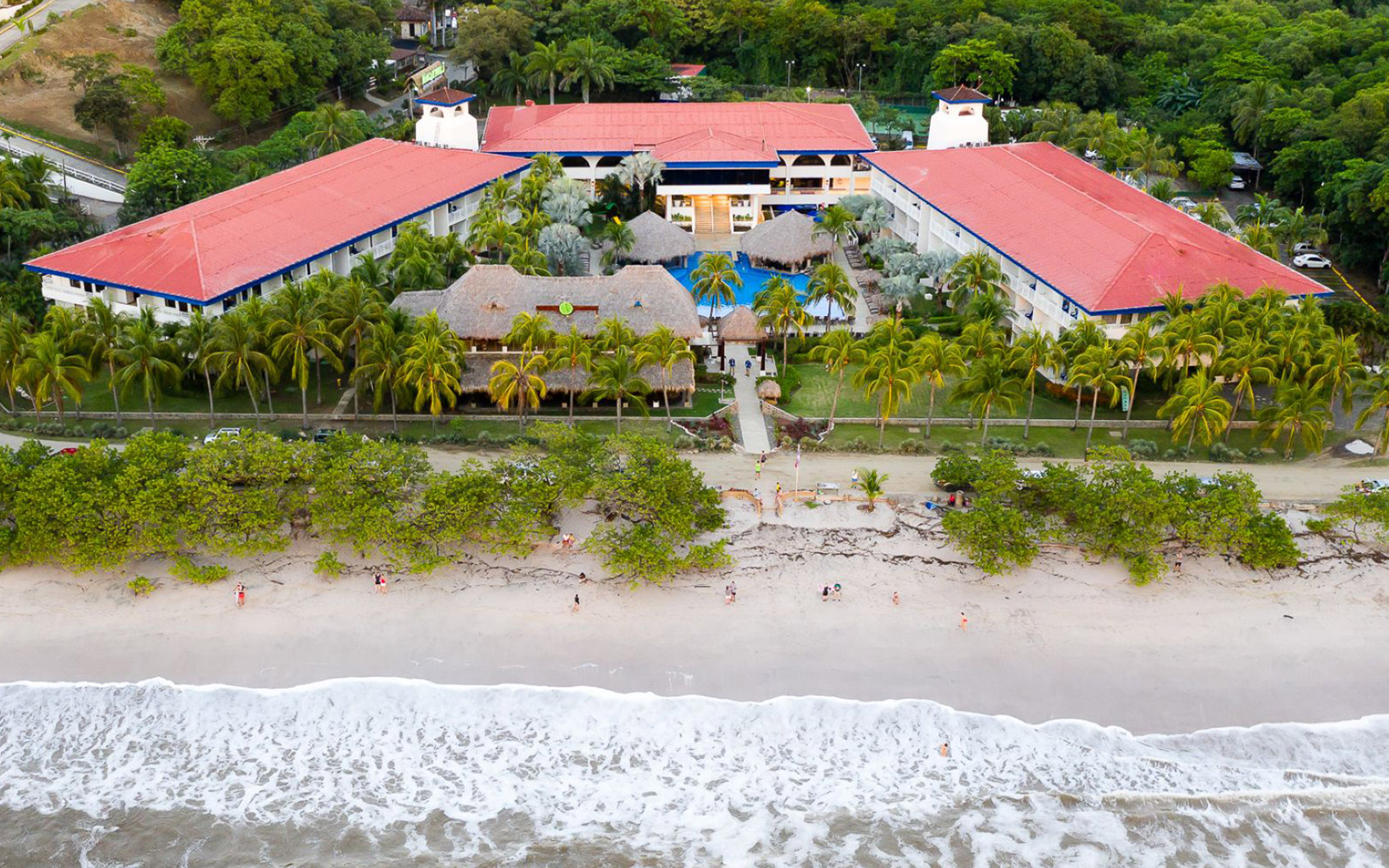 Aerial View of Flamingo Beach and Our Resort
