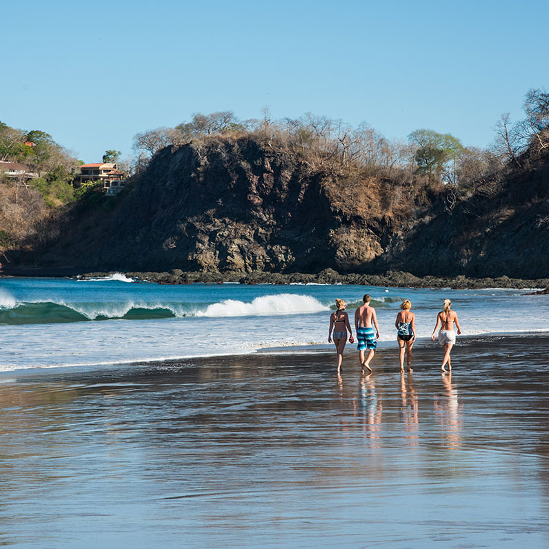 Playa Flamingo Family on Beach