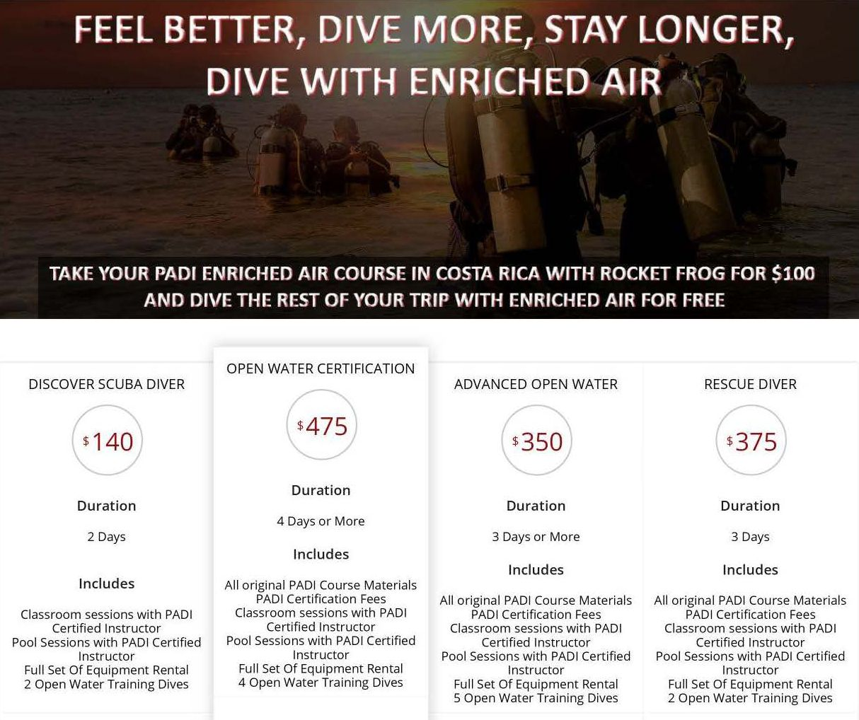 Amazing costa rica scuba diving flamingo beach resort view pricing by course xflitez Gallery
