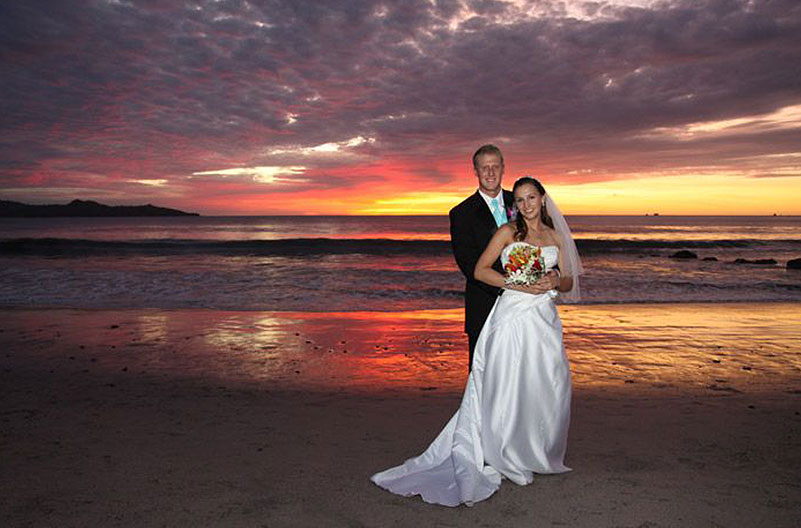 Beach Weddings & Receptions in Flamingo Beach Resort, Cost Rica